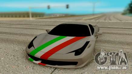 Ferrari Italia 458 für GTA San Andreas