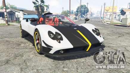 Pagani Zonda Cinque roadster 2009 [replace] pour GTA 5