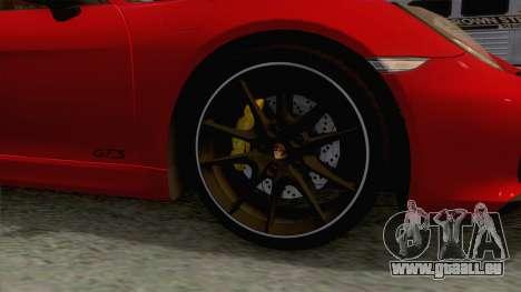 Porsche Boxster GTS 2016 pour GTA San Andreas vue arrière