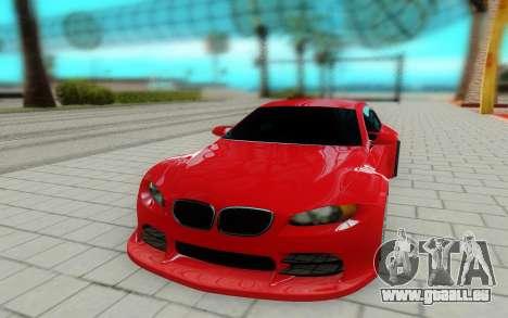 BMW M3 GTS pour GTA San Andreas vue de droite