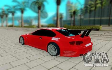 BMW M3 GTS pour GTA San Andreas sur la vue arrière gauche