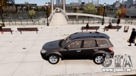 Subaru Forester 2008 Karelian Edition pour GTA 4 est une vue de l'intérieur