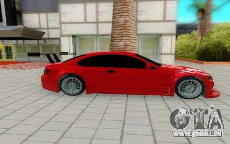 BMW M3 GTS pour GTA San Andreas laissé vue