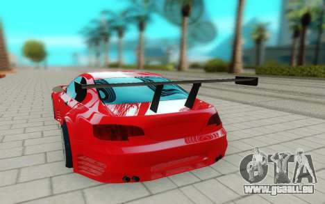 BMW M3 GTS pour GTA San Andreas vue arrière