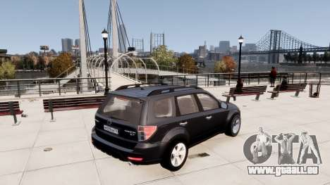 Subaru Forester 2008 Karelian Edition pour GTA 4 est un droit
