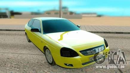 Lada Priora jaune pour GTA San Andreas