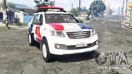 Toyota Fortuner 2014 brazilian police [replace] für GTA 5