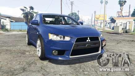 Mitsubishi Lancer Evolution X [replace] pour GTA 5