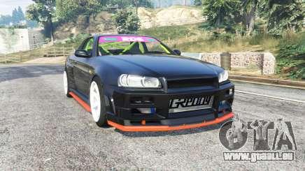 Nissan Skyline (R34) 2002 [replace] pour GTA 5