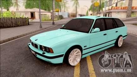 BMW 5-er E34 Touring Stance Vossen pour GTA San Andreas