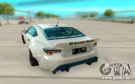 Toyota GT86 RB Ft Rotiform Permaisuri pour GTA San Andreas vue arrière