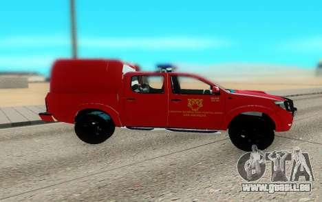 Toyota Hilux pour GTA San Andreas laissé vue