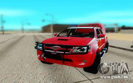 Toyota Hilux pour GTA San Andreas vue arrière