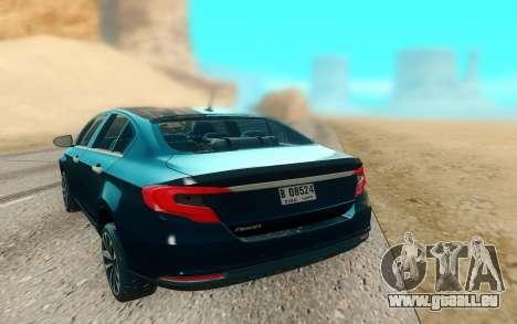 2018 Dodge Neon pour GTA San Andreas vue arrière