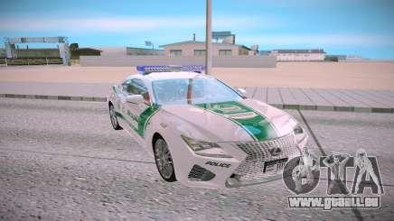 Lexus RC F Dubai Police für GTA San Andreas
