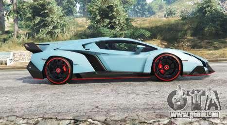 GTA 5 Lamborghini Veneno 2013 v1.1 [replace] vue latérale gauche