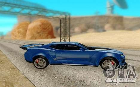 Chevrolet Camaro ZL1 Forza Edition 2017 pour GTA San Andreas laissé vue