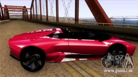 Lamborghini Reventon Roadster für GTA San Andreas