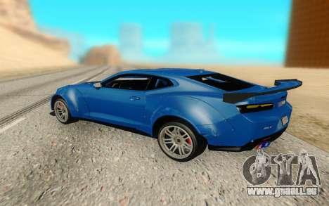 Chevrolet Camaro ZL1 Forza Edition 2017 pour GTA San Andreas sur la vue arrière gauche