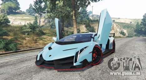 GTA 5 Lamborghini Veneno 2013 v1.1 [replace] droite vue latérale