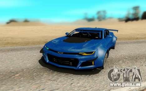Chevrolet Camaro ZL1 Forza Edition 2017 pour GTA San Andreas vue de droite