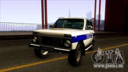 Lada Niva Serbian Traffic Police für GTA San Andreas