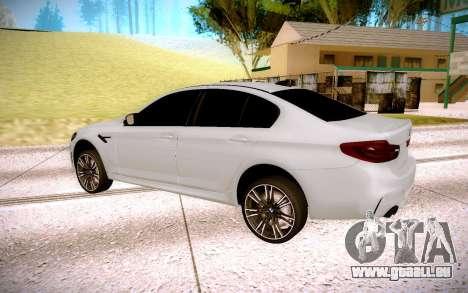 BMW M5 F90 pour GTA San Andreas vue de droite