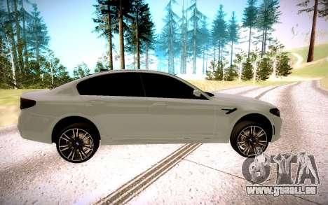 BMW M5 F90 pour GTA San Andreas laissé vue