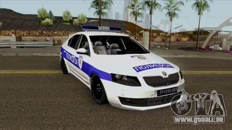 Skoda Octavia Mk3 Policija pour GTA San Andreas vue intérieure