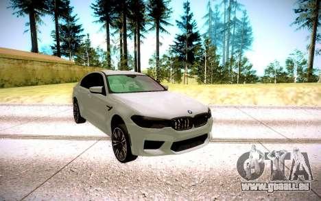 BMW M5 F90 pour GTA San Andreas vue arrière