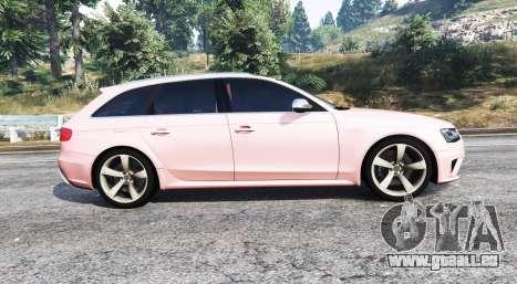 GTA 5 Audi RS 4 Avant (B8) 2013 [replace] vue latérale gauche