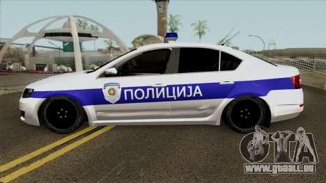 Skoda Octavia Mk3 Policija pour GTA San Andreas laissé vue
