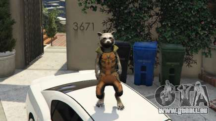 Rocket Raccoon from Guardians of the Galaxy für GTA 5