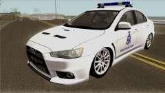 Mitsubishi Lancer Evolution X Malaysia Auxiliary pour GTA San Andreas