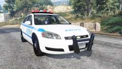 Chevrolet Impala 2007 NYPD v1.1 [replace] pour GTA 5