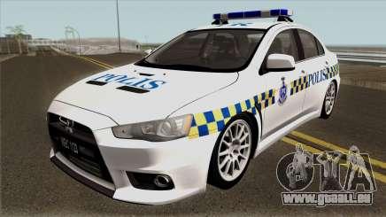 Mitsubishi Lancer Evolution X Malaysia Police pour GTA San Andreas