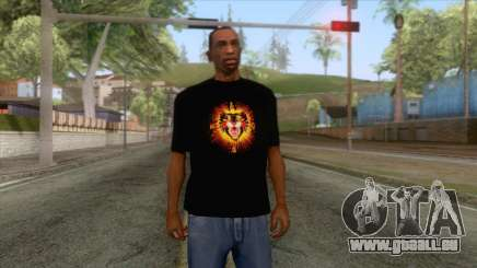 Gucci Angry Cat T-Shirt Black für GTA San Andreas