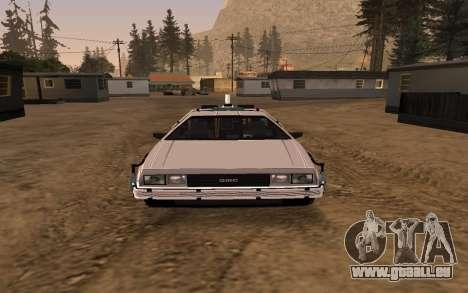 Delorean DMC-12 Back To The Future 2 für GTA San Andreas Seitenansicht