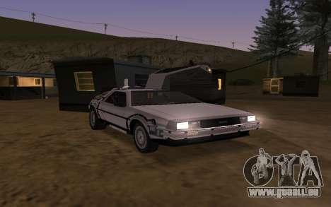 Delorean DMC-12 Back To The Future 2 für GTA San Andreas obere Ansicht