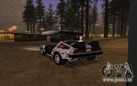 Delorean DMC-12 Back To The Future 2 für GTA San Andreas Unteransicht