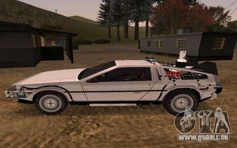 Delorean DMC-12 Back To The Future 2 für GTA San Andreas linke Ansicht