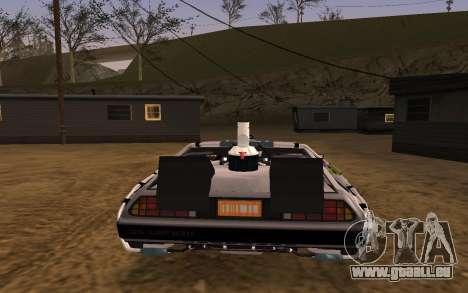 Delorean DMC-12 Back To The Future 2 für GTA San Andreas rechten Ansicht