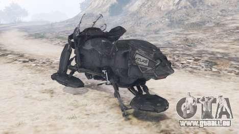 GTA 5 Hoverbike Atlas arrière vue latérale gauche