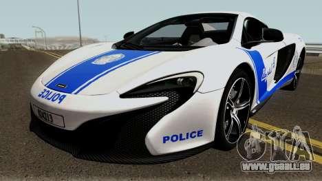 McLaren 650S Spyder Algeria Police v1.0 pour GTA San Andreas
