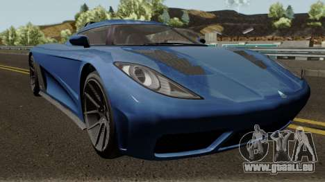 Overflod Entity XXR GTA V pour GTA San Andreas vue intérieure