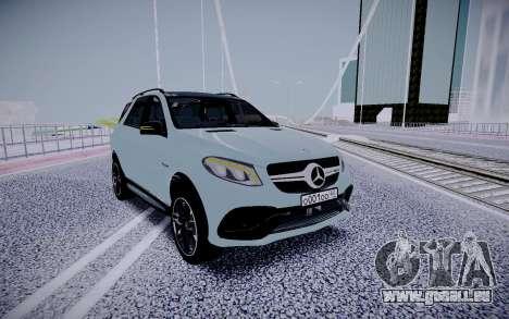 Mercedes-Benz GLE 63S für GTA San Andreas Rückansicht