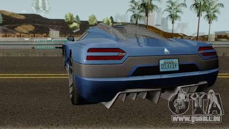 Overflod Entity XXR GTA V pour GTA San Andreas sur la vue arrière gauche