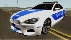 BMW M6 F13 Gran Coupe 2014 Algeria Police pour GTA San Andreas