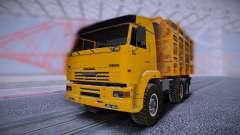 KAMAZ 6460 Camion avec les journaux pour GTA San Andreas