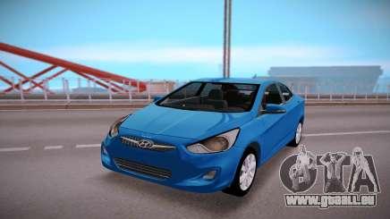 Hyundai Solaris Stock pour GTA San Andreas